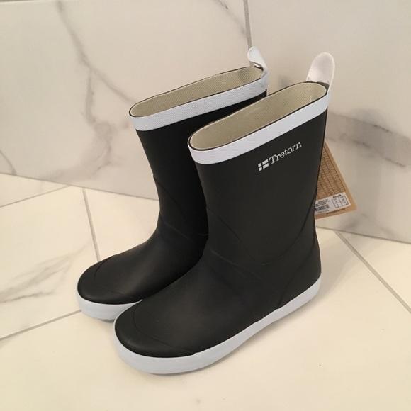 Tretorn black rubber rain boots size 5 NWT NWT